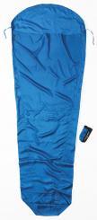 MummyLiner Seide Hüttenschlafsack (Wärmeleistung +5,3°C / max. Körpergröße 210cm / Gewicht 0,135kg