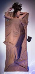 TravelSheet ägypt. Baumwolle Hüttenschlafsack (Wärmeleistung +3,9°C / Max. Körpergröße 190cm / Gewicht 0,26kg)
