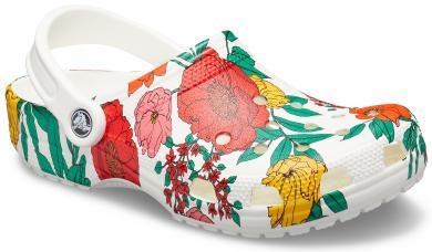 Damen Classic Printed Floral Clog