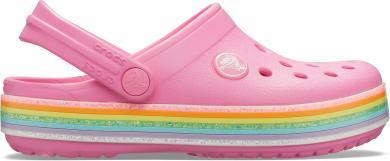 Kinder Crocband Rainbow Glitter Clog