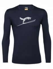 Herren 200 Oasis Long Sleeve Crewe Fox Jump
