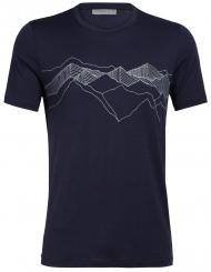 Herren Tech Lite SS Crewe Peak Patterns T-Shirt
