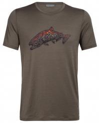 Herren Tech Lite SS Crewe Tetons Salmon T-Shirt