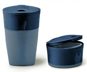 Pack-up-Cup BIO Faltbecher 260 ml (2er Pack Blau+Gelb)