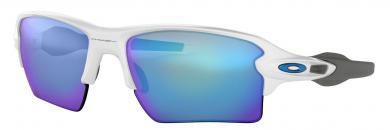 Flak 2.0 XL Prizm Sapphire Polished White Sportbrille