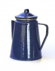 Emaille Kaffekanne blau 1,8l