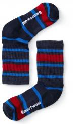 Kinder Striped Hike Light Crew Socken