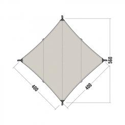 Tarp 3 TC (Maße 400 x 400 cm)