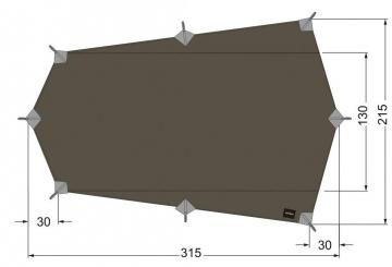 Tarp Wing 2 LT (Maße 315 x 215 cm)