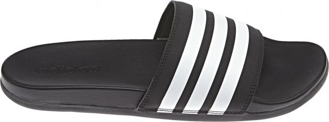 Herren Adilette Cloudfoam Plus Stripes Badeschuh