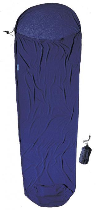 MummyLiner Coolmax Polyester Hüttenschlafsack (Wärmeleistung +4,7°C / max. Körpergröße 190cm / Gewicht 0,255kg)