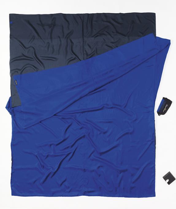 TravelSheet Doublesize Seide Hüttenschlafsack (Wärmeleistung +5,3°C / Max. Körpergröße 190cm / Gewicht 0,35kg)