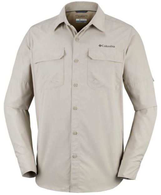 Herren Silver Ridge II Langarmhemd (Übergrößen)
