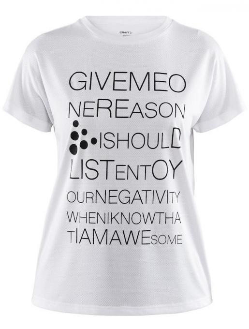 Damen Eaze Logo Mesh T-Shirt