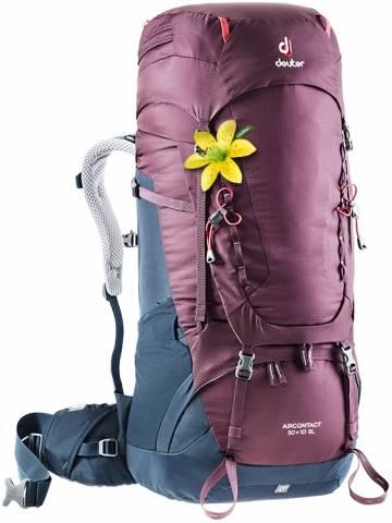 Damen Aircontact 50 + 10 SL Trekkingrucksack (Volumen 50+10 Liter/ Gewicht 2,22 kg)