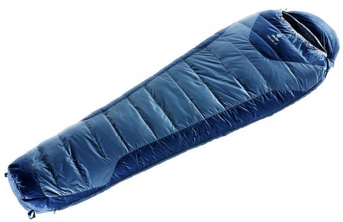 Trek Lite large Daunenschlafsack (bis -2°C / geeignet ab 180cm Körpergröße / Gewicht 1,1kg)