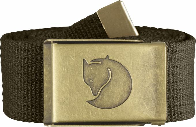 Damen/Herren Canvas Brass Belt 4cm