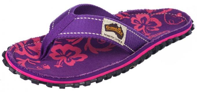 Damen Purple Hibiscus Flipflop