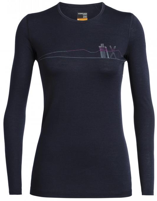 Damen200 Oasis Skis in Snow Langarmshirt