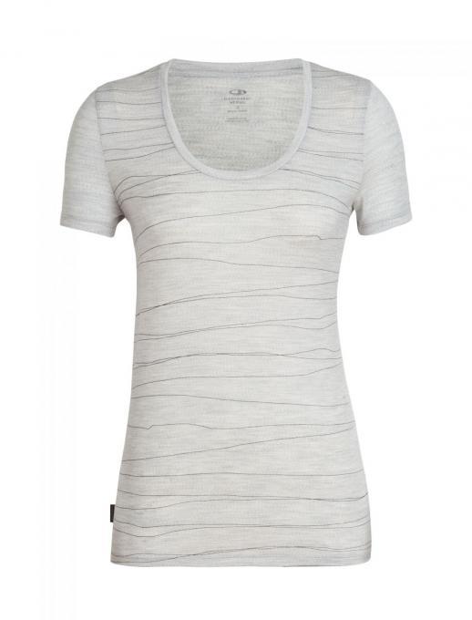 Damen Tech Lite Short Sleeve Scoop Lines Landscape