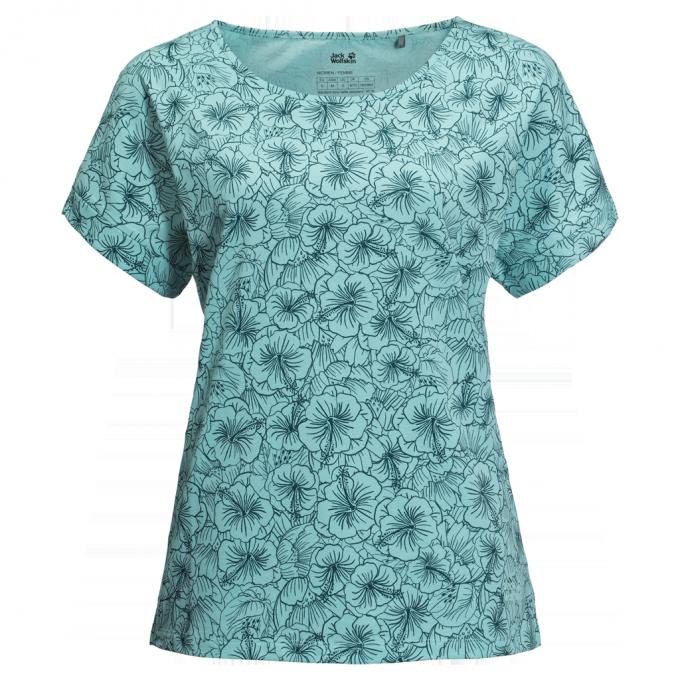 Damen Hibiscus Flower T-Shirt