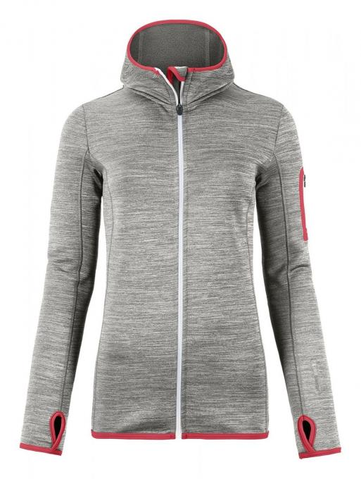 Damen Merino Fleece Hoody Melange