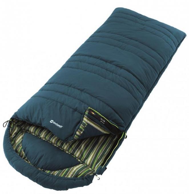 Camper Schlafsack (Herren bis 0°C / max. Körpergröße 200cm / Gewicht 1,2kg)