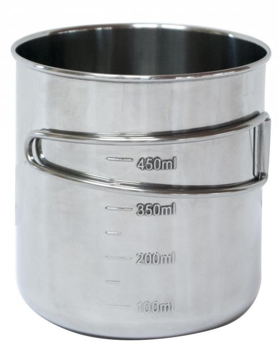BasicNature Edelstahlbecher Space Safer 0,6 L
