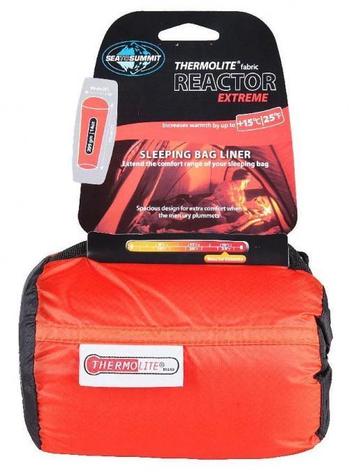 Reactor Extreme Thermolite MummyLiner Schlafsack (Wärmeleistung +15°C / max. Körpergröße 180cm / Gewicht 0,399kg)