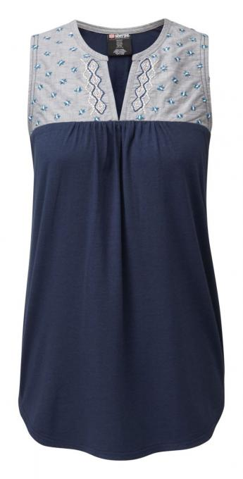Damen Maya Embroidery sleeveless Top