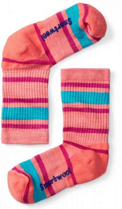 Kinder Striped Hike Light Crew Socken